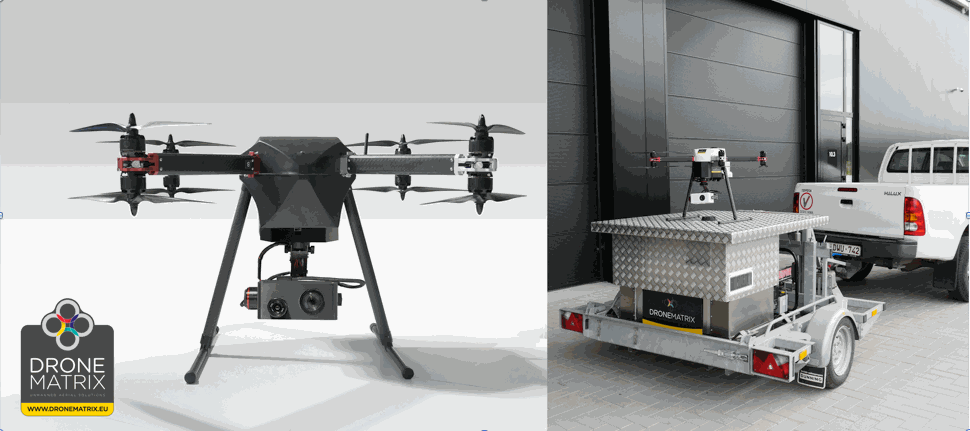 DroneMatrix obtains a European homologation for its autonomous drone TYTHUS